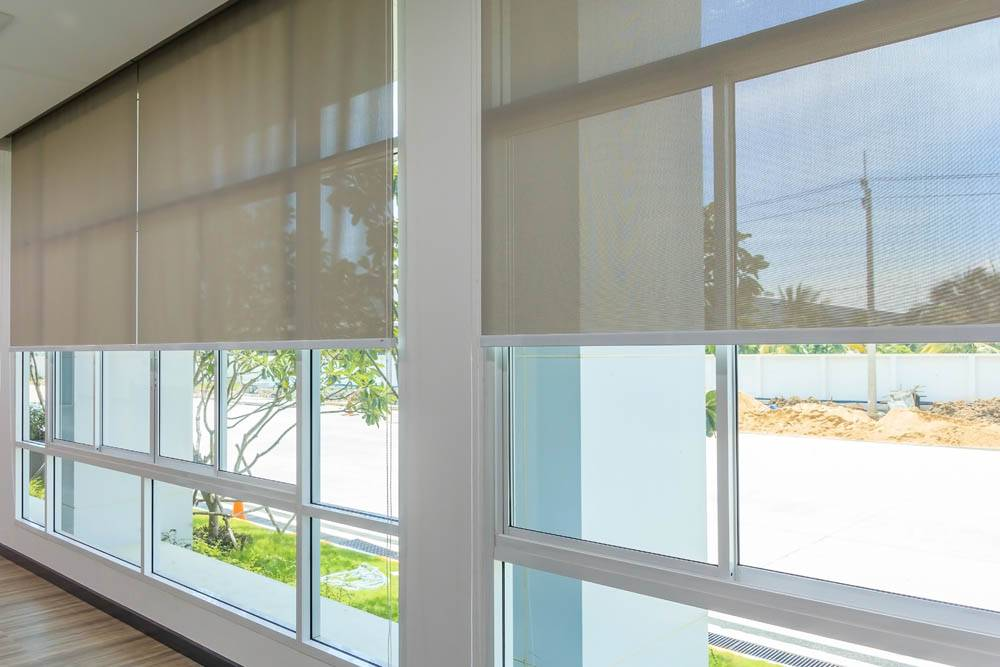 see through roller blinds