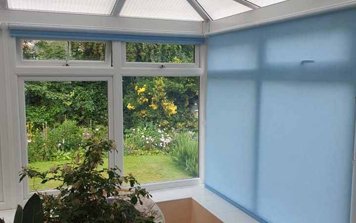 conservatory with blinds inside
